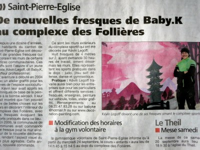 La Presse de la Manche – gymnase St-Pierre Eglise 2014