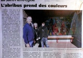 «La Presse de la Manche» abribus St-Pierre Eglise 2014