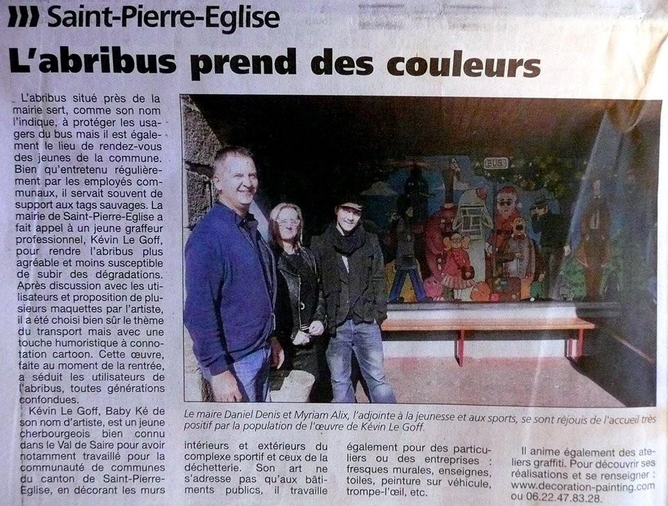 abri de bus -St-Pierre Eglise 2014