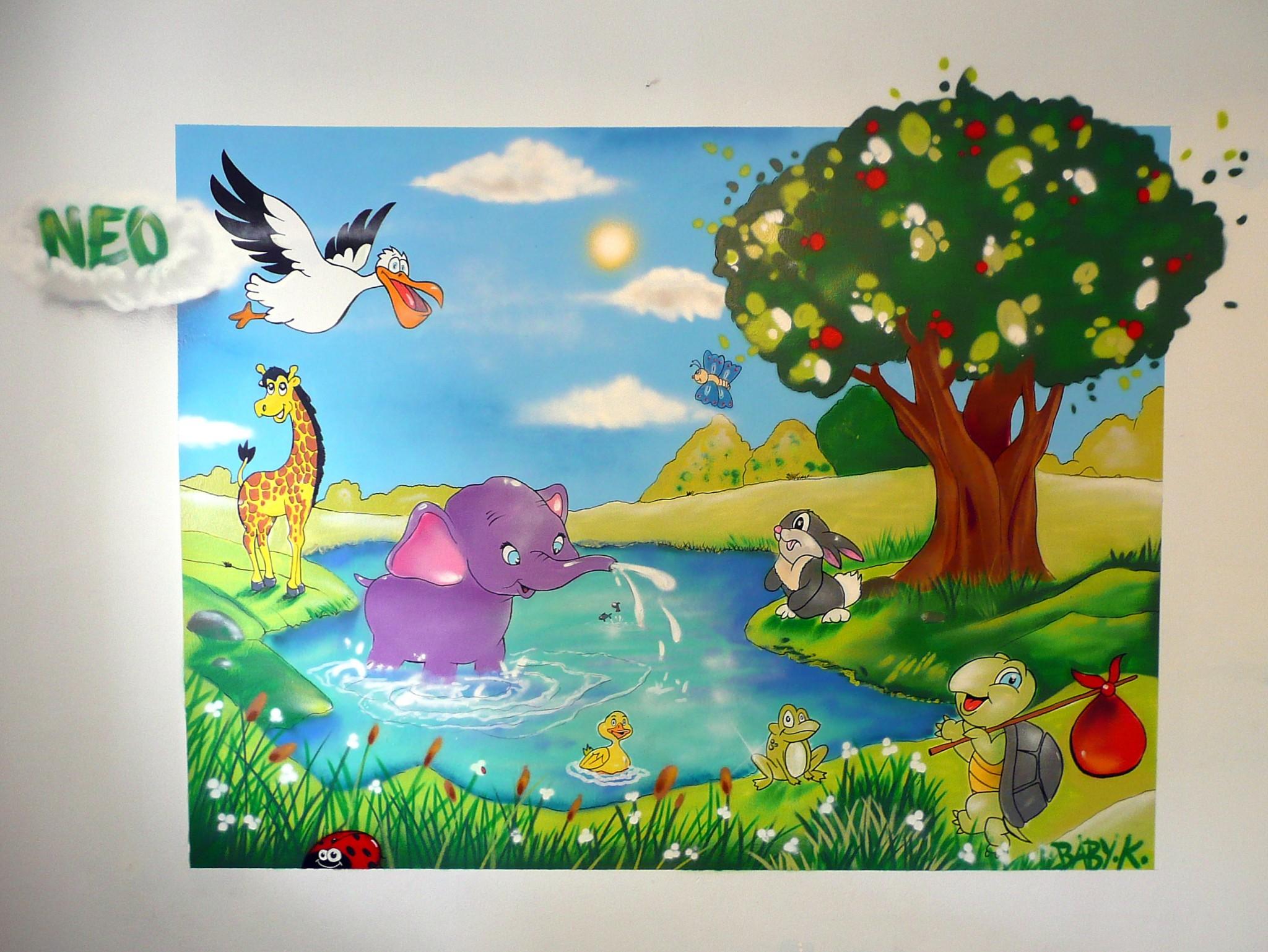 Chambre enfant thème animaux