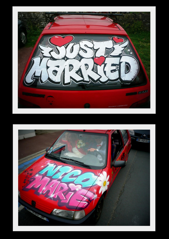 déco voiture mariage 2014
