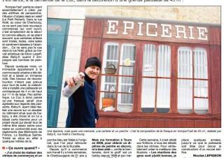 La Presse de la Manche, article «trompe l'œil» – rue Noel à Cherbourg