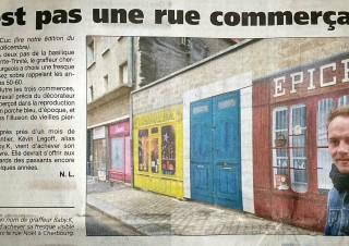 La Presse de la Manche, article «trompe l'œil» – Cherbourg 2014