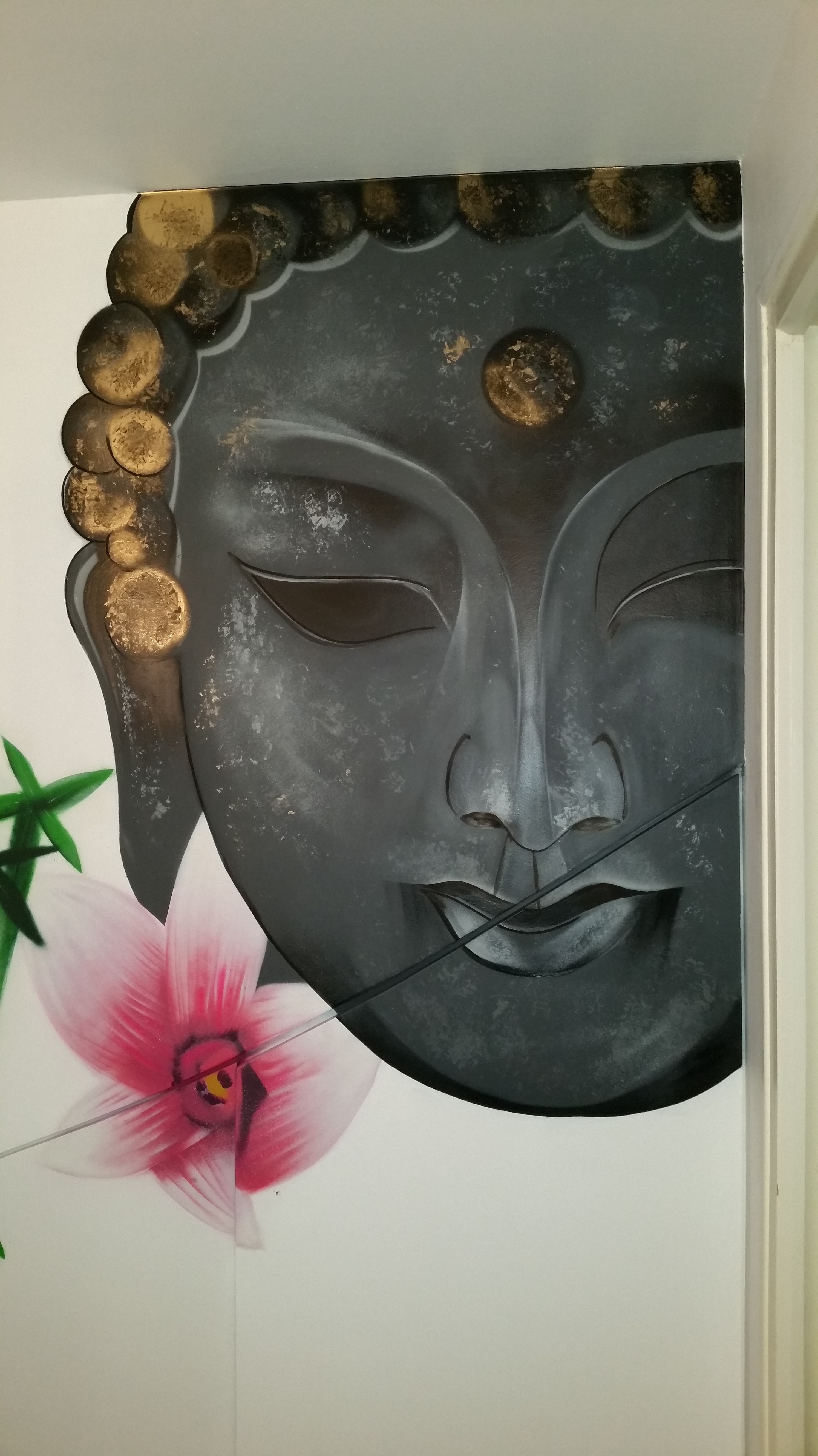 D cor salle de bain bouddha baby k for Decoration mural salle de bain