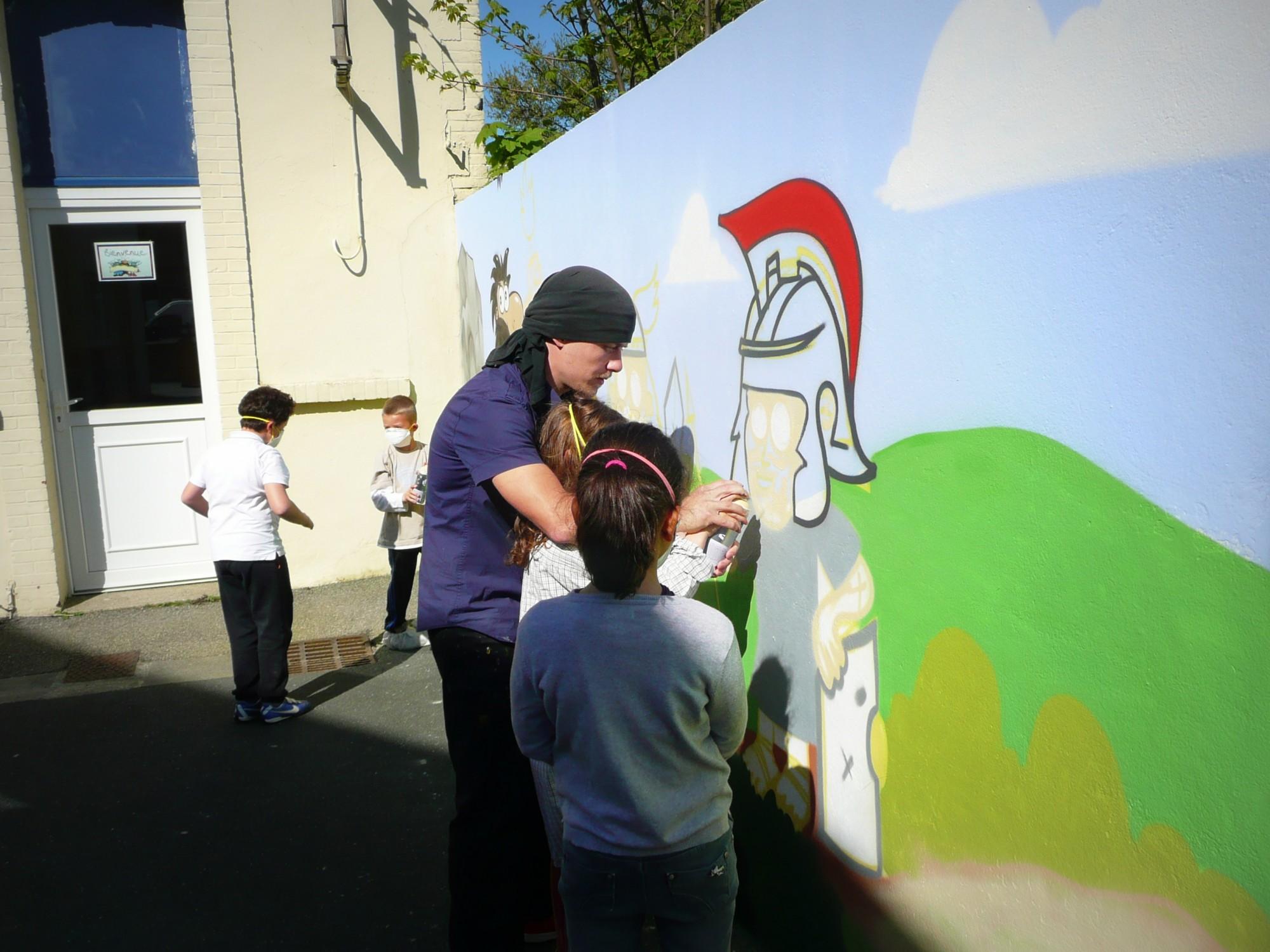 Atelier Graffiti, école primaire – Cherbourg 2014