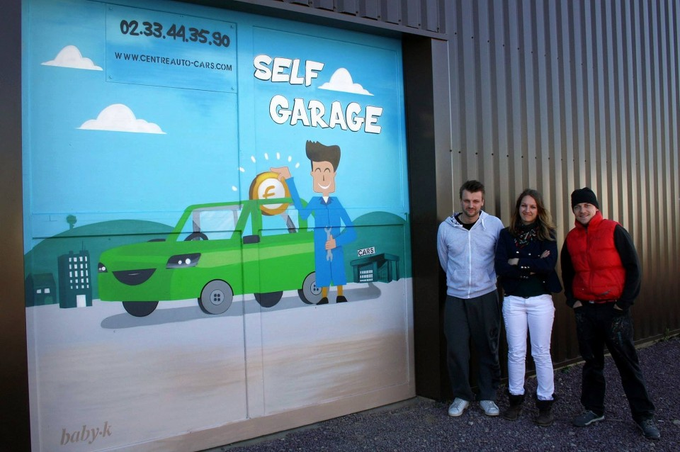 Garage self service -Cherbourg – avril 2015