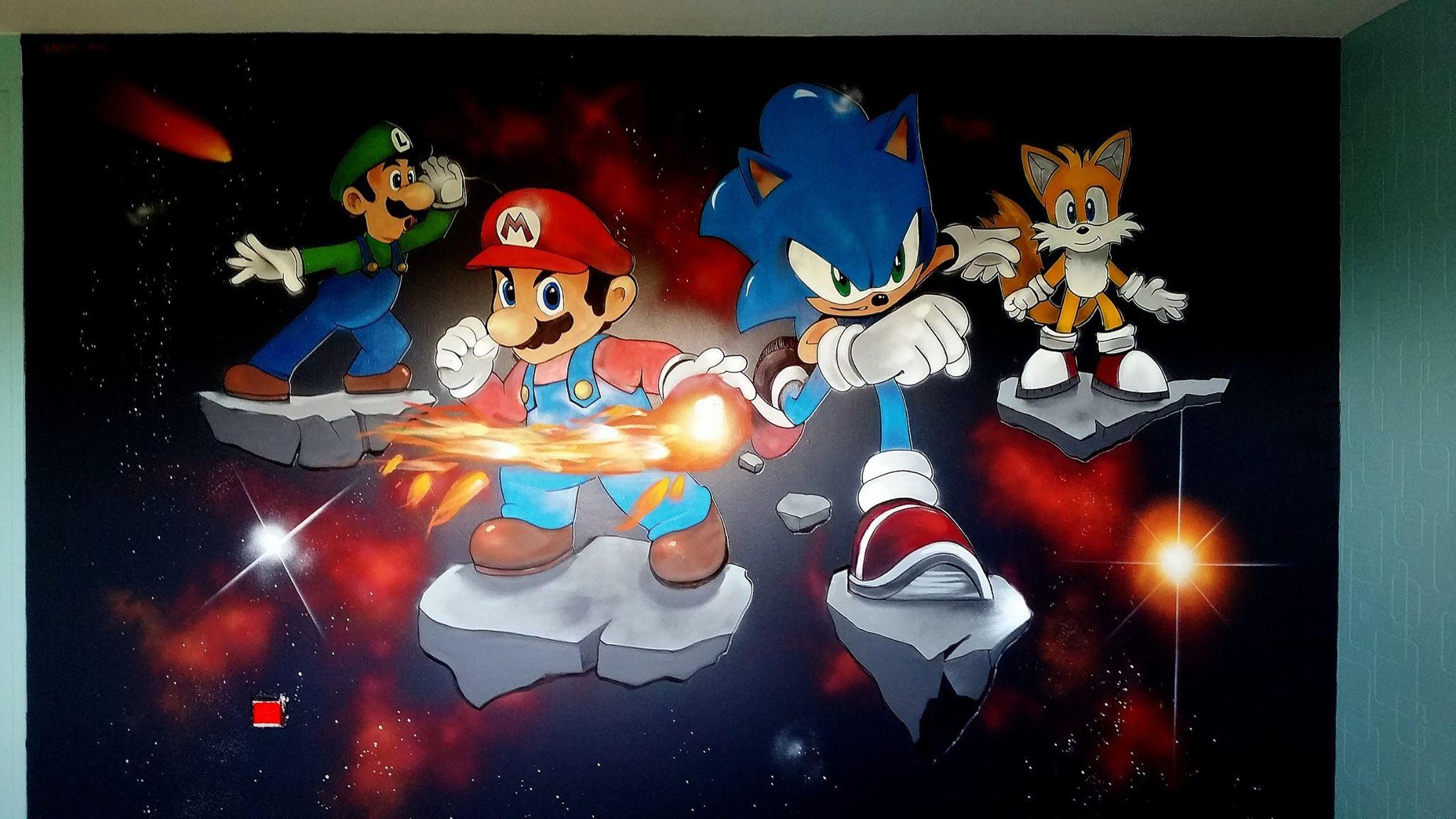 Chambre thème Mario & Sonic