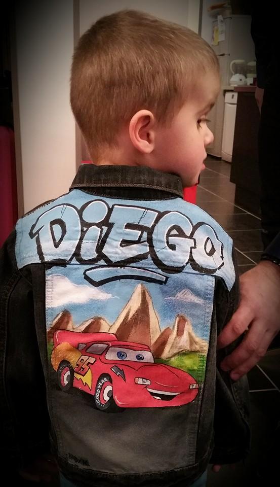 veste en jean Diego